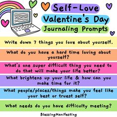 Journaling Prompts for Valentine's Day to help you focus on self-love! Use this day of love as a reason to love on yourself! Passionate Romance, Obsessive Thoughts, Romantic Status, Anger Issues, Finding Happiness, Hard To Love, Self Care Routine, Be True To Yourself, Toxic Relationships