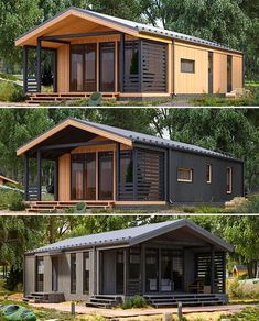 Container House Plans, Container House Design, Container Homes, Unique House Design, Tiny House Design, Tiny House Cabin, My House, Bar Design, Forest House