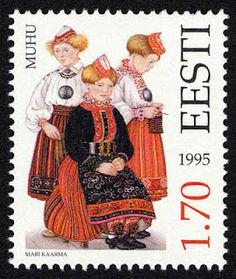 Estonia - Paradise of the North: Estonian Folk Costumes - Stamp - Estonian Folk Costumes Eesti Post has put together an outstanding collection of postage stamps commemorating the diversity of Estonian national costumes between the country's regions. For the past eighteen years, new stamps have been added to the catalogue