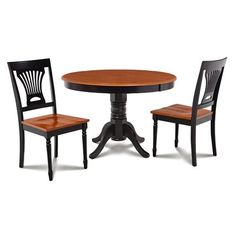 Alcott Hill Cedarville Contemporary 3 Piece Wood Dining Set Finish: Black/Cherry
