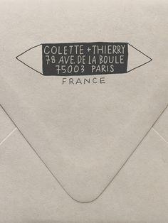 Scandi Triangle Custom Stamp | Sycamore Street Press
