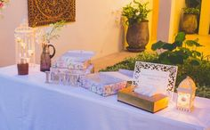 Welcome Table for your guest book.