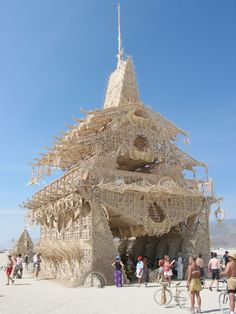 The 2002 Temple Of Joy (by David Best and crew) at Burning Man in Black Rock City, Nevada. by Keith Pomakis Built By Ross A. Burning Man Images, Burning Man Art, Mad Max, Nevada, David Best, Black Rock Desert, Burning Man Fashion, Installation Art, Around The Worlds