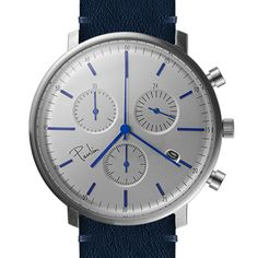 The C200 Chronograph has three dials for measuring 24 hours, 30 minutes and 60 seconds #design #watches