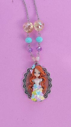 Girl with butterflies dress fimo polymer clay by Artmary2 on Etsy