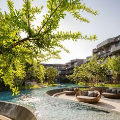 Baan San Ngam condominium in Huahin.  Landscape Architect » Shma  Architect » Somdoon Architects (SdA)