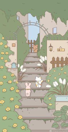 Cute Pastel Wallpaper, Soft Wallpaper, Anime Scenery Wallpaper, Bear Wallpaper, Cute Patterns Wallpaper, Iphone Background Wallpaper, Cute Anime Wallpaper, Disney Wallpaper, Iphone Wallpaper Kawaii