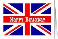 43 best cards british images on pinterest inglaterra apliques union jack birthday card english uk british flag red white and blue card by greeting m4hsunfo