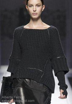 стильное машинное вязание одеж