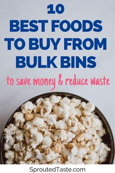 Bulk bin shopping is an excellent way to save money and cut down on waste. Learn which foods you should always be buying from the bulk bins to cut your grocery bill in half. Cooking Dried Beans, Free Groceries, Emergency Preparation, Bulk Food, Vegan Shopping, Going Vegetarian, Plastic Packaging, Healthy Eating Tips, Food Waste