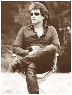 OMG - how can sitting look so sexy? Jon Bon Jovi