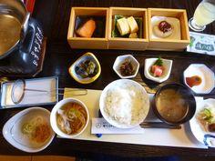 """Prima colazione """"Kashiwaya-Honten""""(Hotel), Bessyo-Onsen(Terme), Ueda Nagano Japan"""