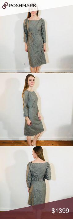 ALEXANDER MCQUEEN BUTTON DETAIL MICRO DRESS #M13 EUC, minimal wear. Size 46 = 12 fits snug Alexander McQueen Dresses