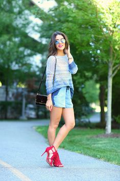 Meu look: Jeans & Red