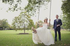 Kat Stanley Photography :: Terrara House :: Outdoor wedding :: swing :: Fun :: Bride :: Groom