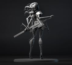 This is my first post on ZBC, I did this character for Paul Gaboury's Advanced Digital Sculpting class at Gnomon. The assignment was to create a hard surface model from beginning to end ZBrush. Sculpting Classes, Hard Surface Modeling, Digital Sculpting, Future Soldier, Zbrush, 3d Character, Art Studies, Cool Artwork, Female Characters