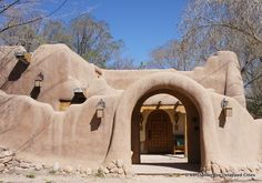 Old world architecture in Santa Fe. To live in a place like this?....out of this world