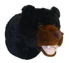 "12"" Tahoe The Black Bear Plush Stuffed Animal Walltoy Wall Mount in Toys & Hobbies, Stuffed Animals, Other Stuffed Animals | eBay"