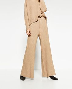 Image 2 of RIBBED TROUSERS from Zara
