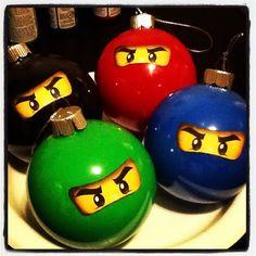 I made these for my son Christmas tree ..LEGO NINJAGO