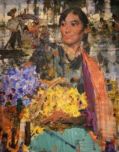 """Nicolai Fechin, """"Flower Girl"""" (1925)"""