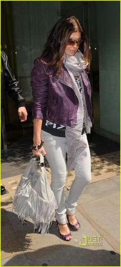 Fergie Purple Moto Jacket