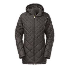 Northface WOMEN'S TRANSIT DOWN JACKET - Grey, Size LG