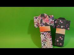 기모노 색종이접기 - Origami Confetti kimono - YouTube