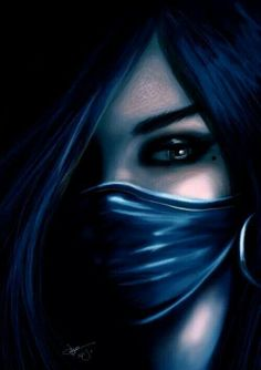 Blue Assassin Fantasy Art - This image inspired me to write a little story that I can't wait to finish...
