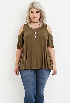 Plus Size Open-Shoulder Top | Forever 21 PLUS - 2000181804