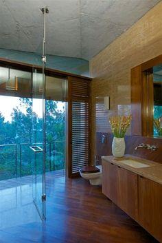Rajiv Saini & Associates designed a concrete house in the Himalayas of India.
