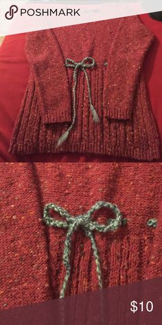 Super Cute Comfy Red Sweater This sweater is SUPER comfy and warm. It has notches for a belt. I made the blue one that is in it now. Sweaters Crew & Scoop Necks