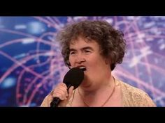 Susan Boyle ~ I Dreamed A Dream on Britains Got Talent 2009 Episode 1. It just makes you smile! : )