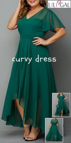 chic plus size dresses for curvy girls~ - Outfit Ideen Vestidos Plus Size, Plus Size Dresses, Short Dresses, Evening Party Gowns, Evening Dresses, Summer Dresses, Party Gown Dress, Mode Plus, Curvy Dress