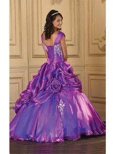 Ball Gowns With Sleeves | Ball Gown Floor-length V-neck Short Sleeve Satin Quinceanera Dresses