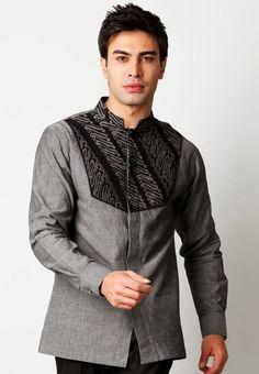 Contoh Model Baju Muslim Pria Modis Lengan Panjang
