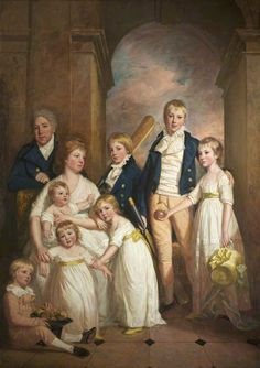 Thomas Tyndall with wife and Children by Thomas Beach c.1800 This Tyndall family was prominent in Bristol, where they lived in an estate called Royal Fort, later Fort Royal (now part of the University of Bristol).
