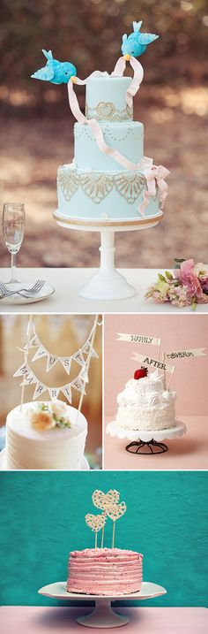 Decoración original para tartas de boda