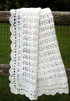 Crocheted baby blanket. This is so sweet.