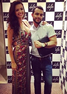 A blogueira Nicole Bernardes e o assessor de imprensa Fernando Luis Cardoso