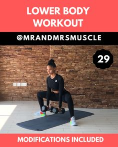 Shape your Legs and Strengthen your Glutes with this Lower Body HIIT Workout! — Shape your Legs and Strengthen your Glutes with this Lower Body HIIT Workout! Full Body Hiit Workout, Gym Workout Videos, Fitness Workout For Women, Dumbbell Workout, Gym Workouts, At Home Workouts, Fitness Exercises, Lower Body Workouts, Muscle Workouts