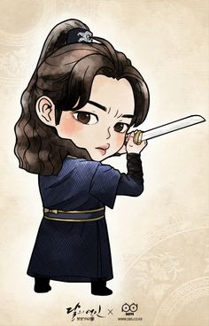 Ost Goblin, Goblin Art, Baby Cartoon, Cartoon Pics, Scarlet Heart Ryeo Cast, Moon Lovers Drama, Chinese Cartoon, Korean Art, Simple Cartoon