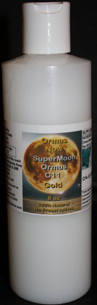 Supermoon Ormus C11 Gold 8oz #OrmusNow  Clearer Thinking Developed Intuition  Emotional Healing  Greater Clarity and Focus  Heightened Senses  Sense of Calm Aids Intestinal Tract  Absorption of Food Particles Body Cells' Generation of Hydroelectric Energy Body Cells' Hydration and Nourishment Improves Vision Increases Electrolytes Increases Energy Prevents Muscle Cramps Promotes Bone Strength Promotes Healthy Blood Sugar Promotes Healthy Immune System Function