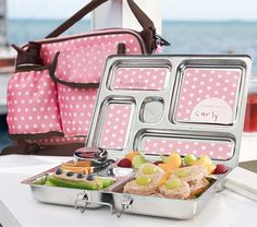 Pink Dot Planet Box Lunch Box | Pottery Barn Kids