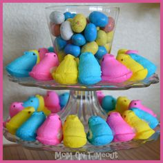 Peep Centerpiece {Easter} - Mom On Timeout