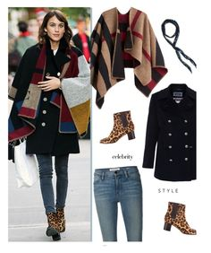 """""""Alexa Chung WInter Style"""" by uncharged-batteries ❤ liked on Polyvore featuring Saint James, Burberry, Frame Denim, Pierre Hardy, Free People, women's clothing, women's fashion, women, female and woman"""