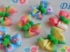 Бантик из ленты Канзаши DIY Kanzashi bow of ribbon Curva da fita Baugen av bånd 4 Ribbon Art, Diy Ribbon, Ribbon Crafts, Ribbon Bows, Making Hair Bows, Diy Hair Bows, Hair Creations, Bow Tutorial, Boutique Hair Bows
