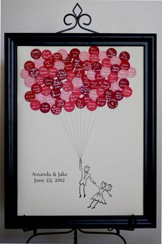 Wedding Guest Book Balloons - Cutest thing ever.  Could also be altered to other events. Love it!!!