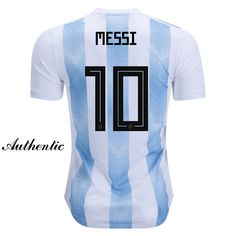 Lionel Messi Authentic Home Soccer Jersey 2018 Argentina  10 16a06d323