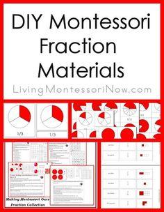 DIY Montessori Fraction Materials